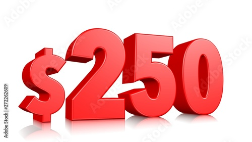 Fotografia  250$ two hundred and fifty price symbol