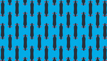 Ilustración De Longboarding. Diseño De Patineta Larga De Descenso. Con Textura De Madera Y Colores En Fondo Blanco