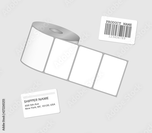 Label sticker roll  Blank adhesive labels on bobbin  Paper