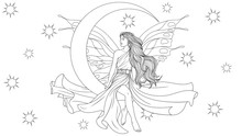 Fairy Sits On A Month