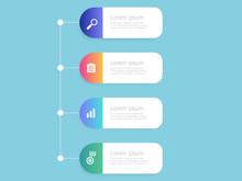 Vertical Timeline Infographics 4 Steps