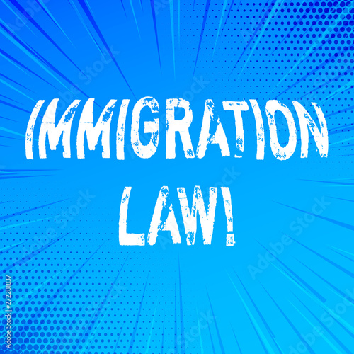 Photo Handwriting text writing Immigration Law