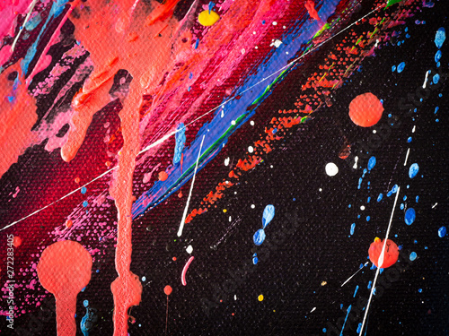 Abstract splashes painting color texture  Colorful abstract