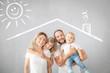 Leinwandbild Motiv Parents with children having fun at home