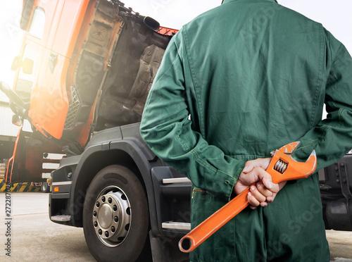 Fotografie, Obraz  truck maintenance and repairing
