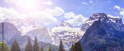 Snowy mountain range in Austria: Loferer Steinberge Canvas Print