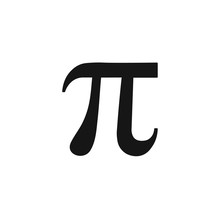 Number Pi Sign. Vector. Isolated.