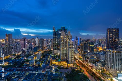 Fotobehang Oceanië Bangkok Building in a City - Aerial view Skyscrapers