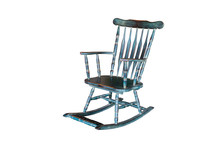 Green Rocking Chair Isolated O...