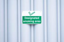 Designated Smoking Area Sign O...