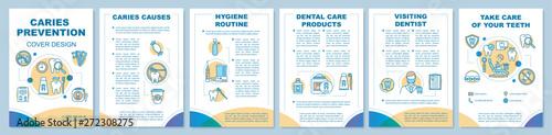 Valokuvatapetti Caries prevention brochure template layout