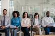 Leinwandbild Motiv Job applicants waiting for their interviews in an office