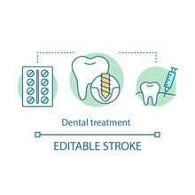 Dental Treatment Concept Icon