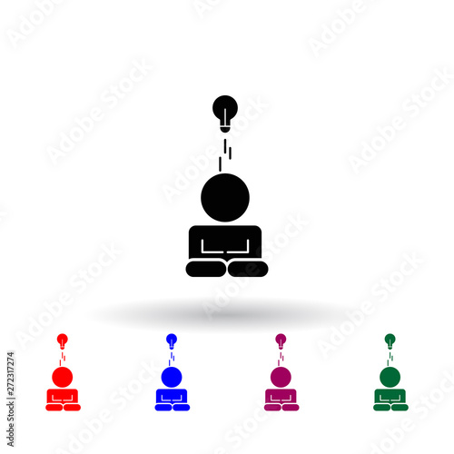 think multi color icon  Elements of concentration set  Simple icon