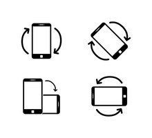 Rotate Smartphone Icon Isolate...