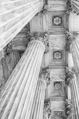 Panel Szklany Podświetlane Architektura Supreme Court Columns