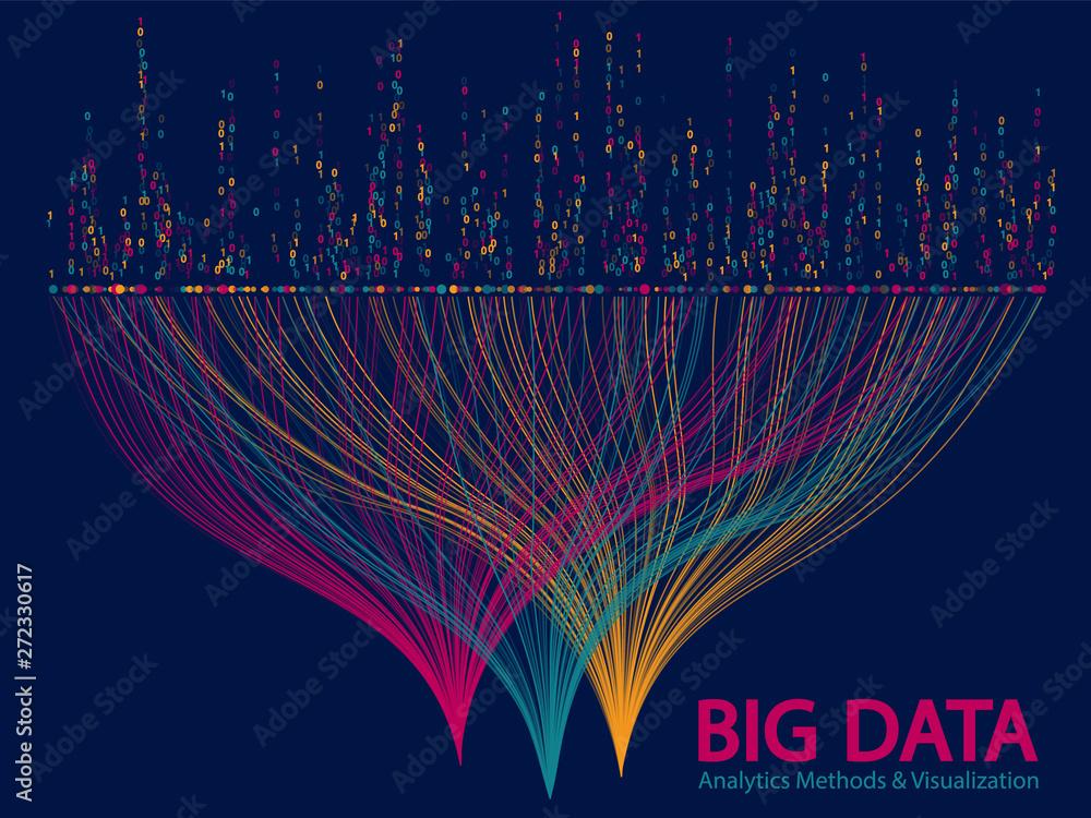 Fototapety, obrazy: Big data visualization concept vector.