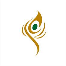 Peacock Feather Logo Icon