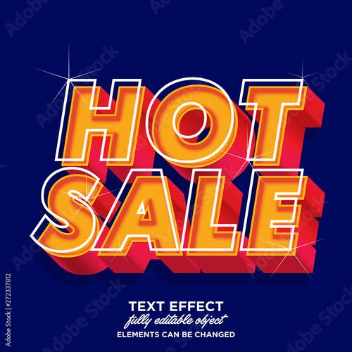 Vászonkép Hot sale sticker font effect for banner sale