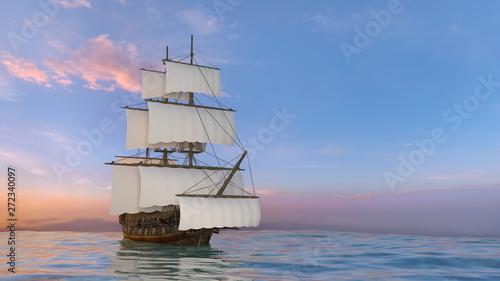Staande foto Schip 船