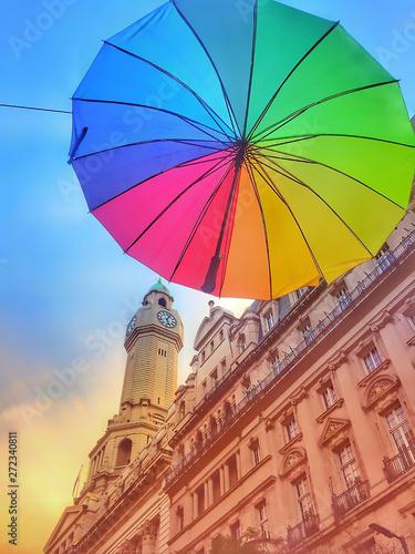 Poster Buenos Aires Día de colores en Buenos Aires