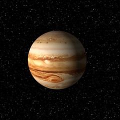 Jupiter in outer space, 3d render