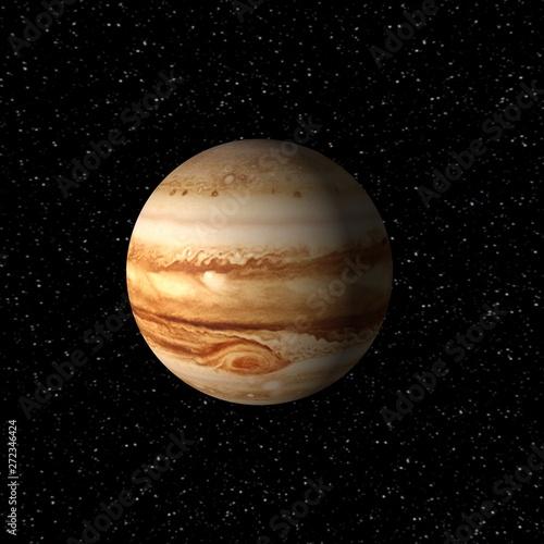 Keuken foto achterwand Nasa Jupiter in outer space, 3d render