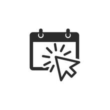 Flat Calendar Web Mobile Icon ...
