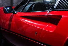 Red Vintage Sports Car Door De...