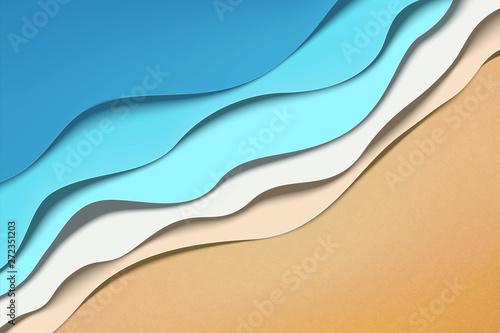 Naklejki specjalne  paper-art-wave-tides