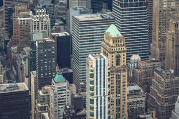 Fifth Avenue Manhattan Skylines Aerial View, New York City