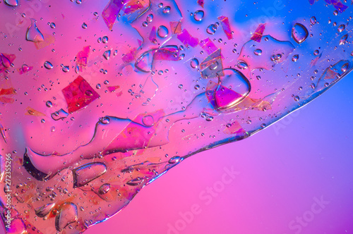 canvas print motiv - lithiumphoto : Abstract textured gradient background transparent slime with copy space