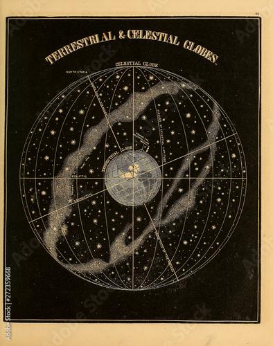 Photo Astronomical illustration. Old image