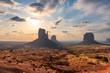 Leinwandbild Motiv Beautiful sunrise at Monument Valley, Arizona - Utah, USA.
