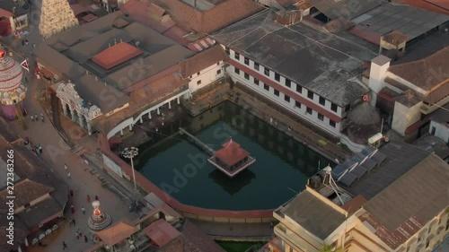 Obraz na plátně Udupi Krishna holy temple, Karnataka state in India, 4k aerial drone