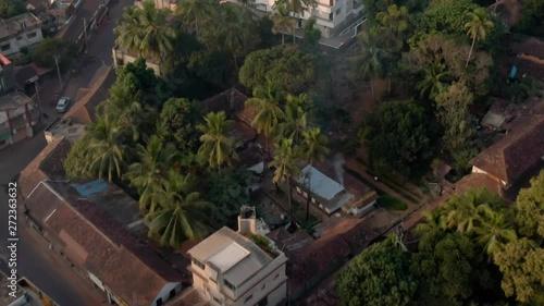 Fototapeta Udupi Krishna holy temple, Karnataka state in India, 4k aerial drone