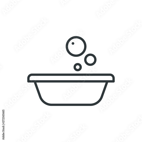 Fotomural  foam basin vector icon
