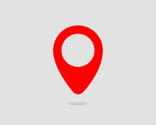 Map Icons. Marker Pointer. Pin Location Vector Icon. GPS Navigation Symbol.