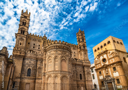 Keuken foto achterwand Palermo The Cathedral of Palermo in Sicily, Italy
