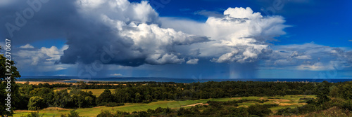 Approaching Storm, Dukes course, St Andrews. Wallpaper Mural