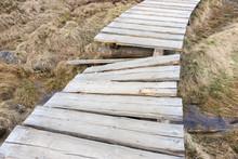 Broken Small Wooden Bridge Ove...