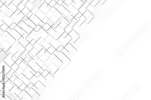 Photo  Abstract geometric white and grey tech background