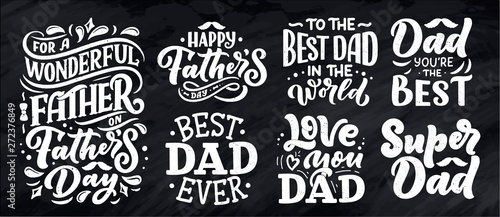 Carta da parati Lettering for Father's day greeting card, great design for any purposes