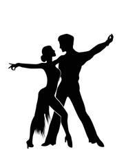 Salsa Dancers Silhouettes