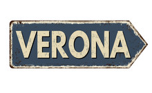 Verona Vintage Rusty Metal Sign