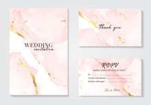 Vector Wedding Invitation Set ...