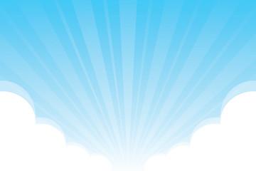 plavo nebo s pahuljastim oblacima bijela pozadina, nebo pozadina s oblacima bijeli crtani koncept, nebo plavo prekriveno zrakom sjaja sunčeve svjetlosti i oblak bijelo za pozadinu oglašavanja banera