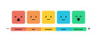 User feedback emotion infographic vector illustration isolated