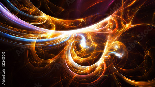 Fotografija  Bright color glowing pattern