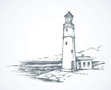 Lighthouse. Vector Drawing